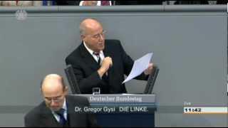 Gregor Gysi erklärt Volker Kauder die Bibel (Vermögenssteuer)