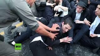 Israel: Sitzblockaden gegen Wehrpflicht - Polizei geht rustikal gegen ultraorthodoxe Protestler vor