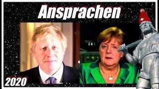 Ansprachen von Premier Boris Johnson und Frau Merkel