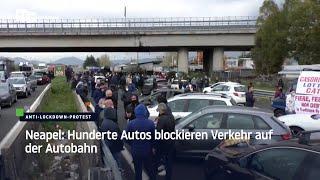 Neapel: Hunderte Autos blockieren Verkehr auf der Autobahn