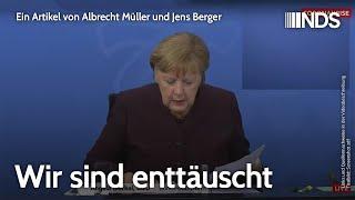 Wir sind enttäuscht | Albrecht Müller und Jens Berger | NachDenkSeiten-Podcast | 11.02.2021