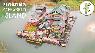 17 Years Living Off-Grid on a Self-Built Island Homestead - Built with Salvaged Materials