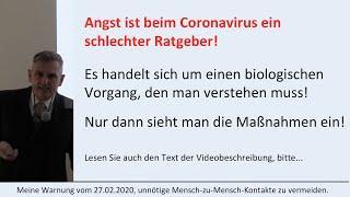 Coronavirus  -  Was Sie wissen sollten...