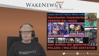 Manchester inszenierter TERROR-Bär-HOAX zum Aufbau der POLIZEI-/MILITÄR-DIKTATUR 20170525