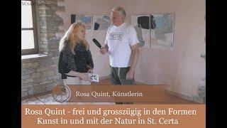 Rosa Quint - frei und grosszügig in den Formen -  Kunst in und mit der Natur in St. Certa, Italien
