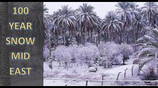 100 Year Snowstorm Middle East as Earth's Atmosphere Bends (938)