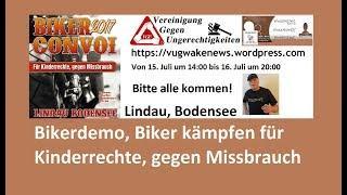 Bikerdemo, Biker kämpfen für Kinderrechte, gegen Missbrauch in Lindau/Bodensee 15.- 16.07.2017