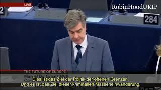 EU Parlament -  Die Zukunft der EU wird islamisch sein! Marcel de Graaff (1.12 min.)