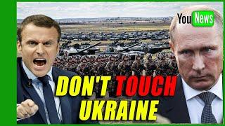 DON'T TOUCH UKRAINE! Macron calls for 'red lines' on Russia as Putin sends troops to border.