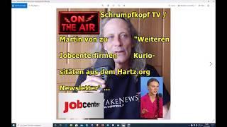 """Trailer: Schrumpfkopf TV / Martin von zu """"Es schneit Greta & Newsletter von Hartz.org"""" ..."""