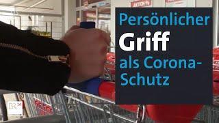 Persönlicher Einkaufswagengriff statt Gummihandschuh | Abendschau | BR24