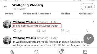 Eil: Homepage Lungenfacharzt Wolfgang Wodarg zensiert und gesperrt