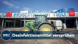 SPANIEN MACHT ES WIE WUHAN: Traktoren werden zu Corona-Desinfektionsfahrzeugen