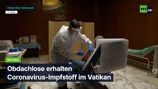 Italien: Obdachlose erhalten Coronavirus-Impfstoff im Vatikan