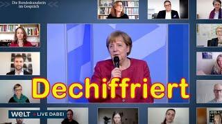 Merkels Künstler-Dialog – was sie wirklich sagen wollte, für Sie übersetzt in Klarsprech.