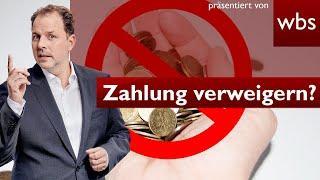 Krasses Corona-Gesetz: Ihr dürft Zahlungen verweigern   RA Christian Solmecke
