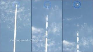Undeniable Atmospheric Spraying, Caught In The Act ( Dane Wigington Geoengineering Watch )