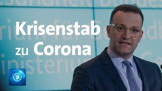 Coronavirus: Spahn und Seehofer zu Krisenstab