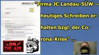 """""""Firma JC LD-SUEW — heutiges Schreiben erhalten wegen der Corona-Krise!!!""""..."""