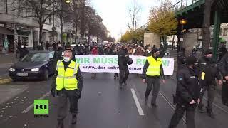 """Live aus Berlin: """"Schweigemarsch"""" von Gegnern der Corona-Maßnahmen"""