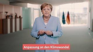 Merkel: Gemeinsam auf extreme Wetterereignisse reagieren