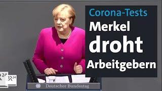 Mehr PCR-Tests - Merkel droht Arbeitgebern - Rundschau | BR24