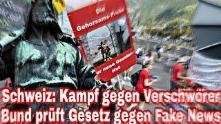 Schweiz: Kampf gegen Verschwörer Bund prüft Gesetz gegen Fake News