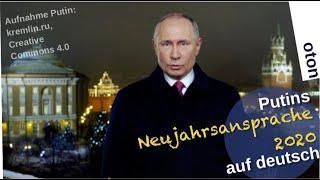 Präsident Putins Neujahrsansprache 2020  - deutsch übersetzt