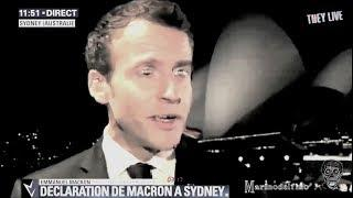 MACRON SHAPESHIFTING ON LIVE TV!