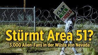 Stürmt Area 51?: 3.000 Alien-Fans feiern friedlich in der Wüste von Nevada