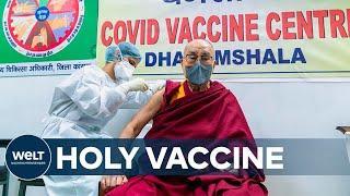 SEINE HEILIGKEIT: Dalai Lama bekommt erste Corona-Impfung mit AstraZeneca