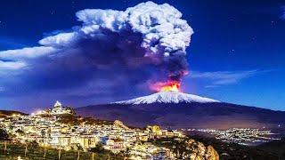 Massive eruption of Mount Etna, Sicily, Italy, February 16,2021