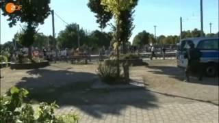 Kurden verwüsten Teile von Mannheim und griff Polizisten an