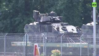 Tanks in the streets! Military vehicles shot in DC ahead of 4th of July