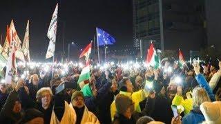 """Proteste in Budapest gegen """"Sklavengesetz"""""""