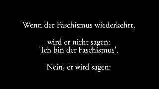 Wenn der Faschismus wiederkehrt...