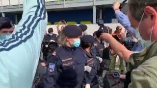 Corona Demo Wien brutale Festnahme Video