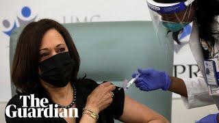 Noch eine Fake-Impfung !  Kamala Harris receives Covid-19 vaccine: 'That was easy'