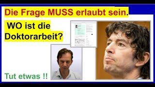 """""""WO ist die Doktorarbeit von Prof Dr. Drosten?"""", fragt Dr. Schiffmann Professor Drosten."""