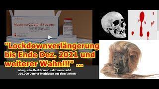 """""""Lockdownverlängerung bis Ende Dez. 2021 und weiterer Wahnsinn!!!"""" ..."""