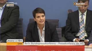 Pressekonferenz der AfD nach der Bundestagswahl am 25.09.17