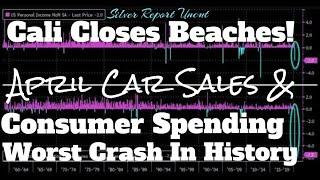 Consumer Spending Collapsed By Most In History Along With April New Car Sales, Savings Rate Jumps