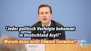 """Asyl für """"jeden politisch Verfolgten"""" - Warum dann nicht Edward Snowden?"""