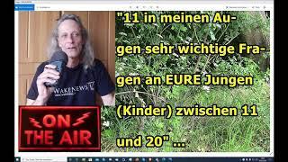 """""""11 in meinen Augen sehr wichtige Fragen an EURE Jungen (Kinder) zwischen 11 und 20"""" ..."""