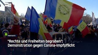 """Bukarest: """"Rechte und Freiheiten begraben"""" – Demonstration gegen Corona-Impfpflicht"""