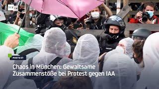 Chaos in München: Gewaltsame Zusammenstöße bei Protest gegen IAA