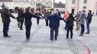 """Impressionen v. d. """"Mahnwache für den Frieden"""" in Ludwigsburg am 12.5.2014"""