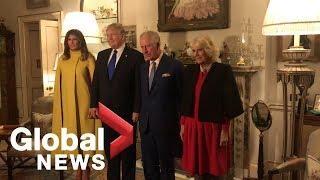Donald and Melania Trump meet Prince Charles and Camilla