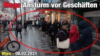 Wien: Mega Ansturm vor Geschäften - Lockdown Light - Thug Life Austria