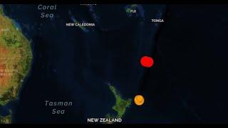 A SECOND Massive Earthquake of M7.4 Strikes Of Coast of New Zealand, Tsunami Alert Issued for Region